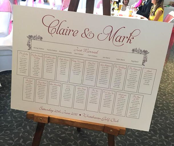 Claire Table Plan